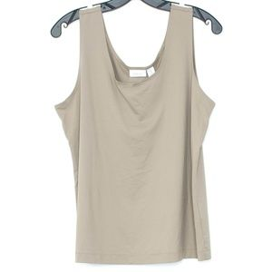 Chicos Brown Tank Top Womens 3 XL 16 D1